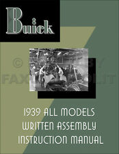 1939 Buick Assembly Manual Century Limited Roadmaster Special can use 1938