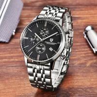 43mm PAGANI DESIGN black dial full Chronograph VK67 Quartz Men's Wrist Watch
