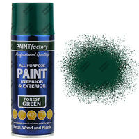 4 x 400ml All Purpose Forest Green Gloss Spray Paint Household Car Plastic