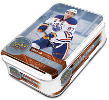 2017-18 Upper Deck Series 2 NHL Hockey Trading Cards 12pk TIN = 97 Total Cards