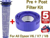 Washable Pre Post Filter For Dyson V6 V7 V8 DC58 Animal Cordless Vacuum Cleaner