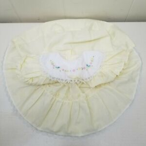 Cradle Togs Yellow Full Circle Dress Toddler Baby Embroidered Pageant Lace Bow