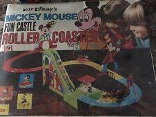 Illco USA Walt Disney MICKEY MOUSE FUN CASTLE ROLLER COASTER Bat.Op. SET MISB`83
