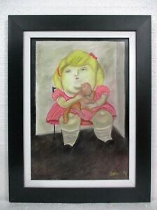 FERNANDO BOTERO  ( b 1932) PASTEL ON PAPER WITH FRAME IN GOOD CONDITION