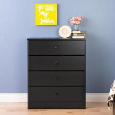 Prepac Astrid 4-Drawer Dresser  Black - BDBR-0401-1 NEW