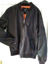 Men's Medium Black Bomber Jacket