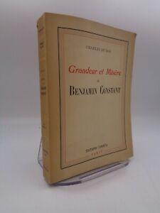 Charles Du Bos : Grandeur et misère de Benjamin Constant