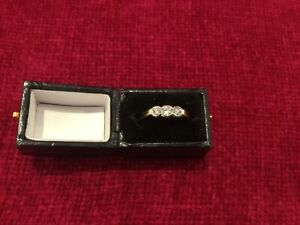 Art Deco Trilogy Diamond Ring 18ct Yellow Gold