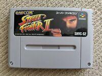 Street Fighter II cartridge for Nintendo Super Famicom / SNES (NTSC-J)
