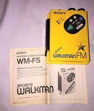Vintage Sony WM-F5 Sports Walkman Cassette Player Quicksilver X-Men Cosplay