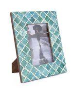 Picture Photo Frame Moorish Moroccan Inspired Handmade Bone B&w Frames Size 4x6 Green