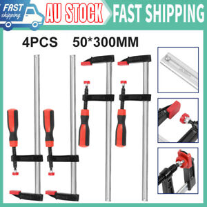 4 Pieces 50*300mm Adjustable Woodworking F Clamp Clamps Quick Release Wood Tool