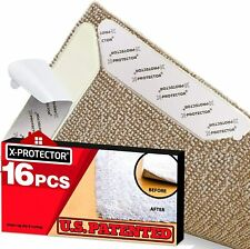 X-Protector Rug Grippers Best 16 Pcs Anti Curling Gripper. Keeps Your in Place &