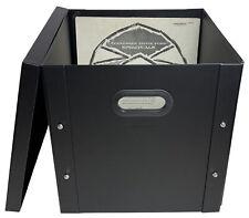 "1 CheckOutStore Black 12"" LP Vinyl Record 33 RPM Storage Box"