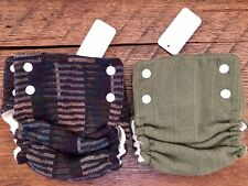 New Babee Greens Natural Merino Wool Diaper Covers - Small. Set of Two