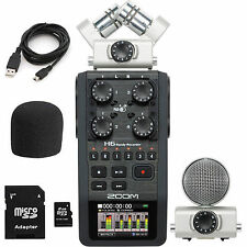 Zoom H6 Portable Handheld Recorder Interchangeable Microphone System 2GB SD USED