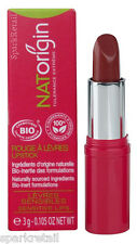 NATOrigin Organic 100% Natural LIPSTICK 3g LITCHI/LYCHEE Frosted Raspberry
