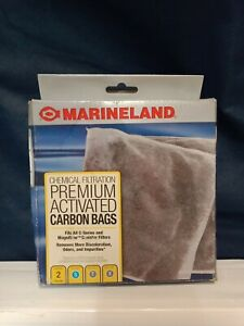 2 Pack MarineLand Premium Activated Carbon Bags,Chemical Filtration in Aquariums