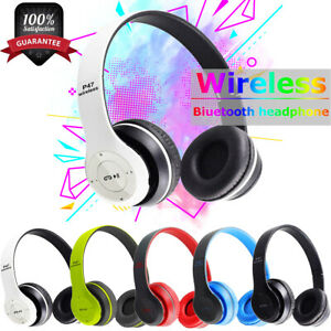 Bluetooth Wireless Headphones On Ear Foldable Stereo Noise Cancelling Headset