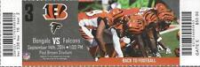 2014 NFL ATLANTA FALCONS @ CINCINNATI BENGALS BENGALS UNUSED FOOTBALL TICKET