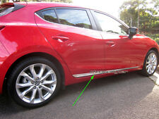 Chrome Body Side Line Molding Moulding Protector for Mazda 3 BM 2013-16 Skyactiv