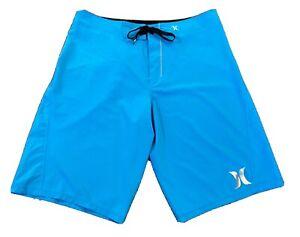 HURLEY Brand Phantom Mens Board Shorts Size 34 Surfing Swimming Trunks - MINT