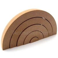 Freestanding Stacking Rainbow Shape 18mm Thick MDF Craft Blank Shape 3 Sizes