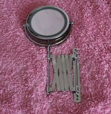 extending magnified double sided bathroom mirror