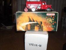 MATCHBOX  MODELS OF YESTERYEAR  FIRE ENG SERIES  #YFE04  1939 BEDFORD TANKER