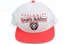 Mishka Hat Worldwide Death Adders Bear Snapback Gray Red Green