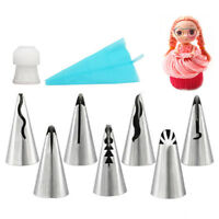 Russian Piping Nozzles Tips Icing Nozzles Stainless Steel Wedding Ruffle New