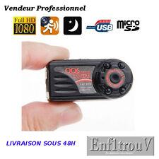 Mini caméra espion Vision nocturne détection de mouvement Full HD