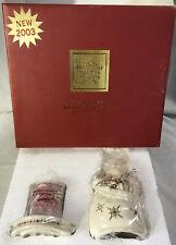 LENOX China Jewels ~ Santa Cozy Lite ~ Fine China Christmas Tea Light NEW IN BOX