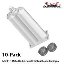 Atlas Pro 50ml Empty Dual-Barrel Cartridge ONLY-1:1 mix ratio-10-Pack
