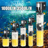 1000-3500L/H Internal Filter Fish Tank Aquarium Submersible Filtration Pump