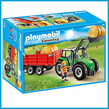 NEW PLAYMOBIL COUNTRY FARM TRACTOR with TRAILER & DRIVER 6130