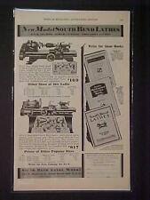 VINTAGE South Bend Machinist Tool Machine Lathe ART PRINT AD~ ORIG ANTIQUE 1930