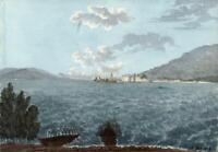 ISOLA BELLA LAGO MAGGIORE ITALY Watercolour Painting ELIZABETH CAMPBELL 1824