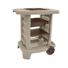 Suncast GC1500BT Portable Outdoor Garden Center Station Tool Cart, Light Taupe