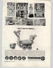 1963 PAPER AD Pebbles Flintstone Toys Transogram Revell Race Car Drivers Moon