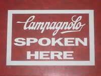 Campagnolo Spoken Here Printed Window Car Sticker Cycling bike Decals Vintage