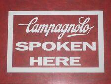 Campagnolo Spoken Here finestra Stampata Adesivo Decalcomanie ciclismo bici eroica vintage