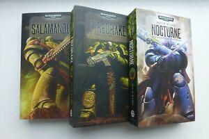 Warhammer 40k Black Library Salamanders Trilogy & Word Bearers Trilogy