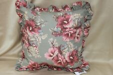 "RALPH LAUREN ""SHETLAND MANOR"" FLORAL DECORATIVE THROW PILLOW - SAGE GREEN/MULTI"