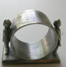 ANTIQUE VICTORIAN FIGURAL NAPKIN RING BUGLE MIDDLETOWN PLATE 340