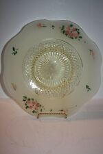 Beautiful Yellow Vintage Pressed Glass Plate
