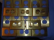 Lot 18 Mulberry Solid Brass Outlet Covers Home Electrical Shabby Retro Decor EUC