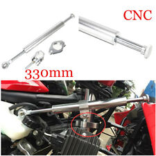 1x CNC Silver Motorcycle Steering Damper Stabilizer Linear Safety Control Part