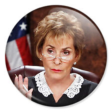 """Judge Judy Sheindlin 25mm 1"""" Pin Badge Button Funny Court Novelty"""