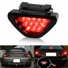 Triangle Flash LED Lights Motorcycle ATV Car Rear Tail Light Brake Running Red